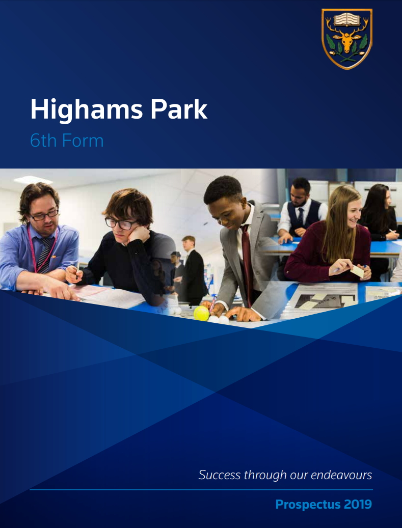 6th Form Prospectus frontpage 2019